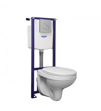 WC suspendat Santeri ALFA (cu capac plastic)